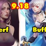 Riot Games hé lộ danh sách tướng buff/nerf trong phiên bản 9.18