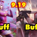 Riot Games công bố buff/nerf tướng trong phiên bản 9.19 phục vụ CKTG 2019