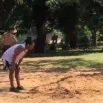 Ronaldinho chơi bóng với trọng phạm