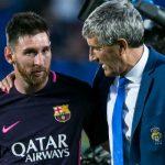 HLV Setien mong Messi chơi bóng đến khi ông chết