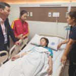 Nữ trung vệ Việt Nam nhập viện sau trận đấu Thái Lan