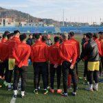 U23 Việt Nam tập buổi đầu tiên tại Hàn Quốc