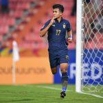 Suphanat là cầu thủ trẻ nhất ghi bàn tại U23 châu Á