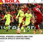 Báo chí châu Âu kinh ngạc vì chiến thắng của Liverpool