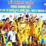 Thanh Hoá vô địch giải U17 quốc gia 2019