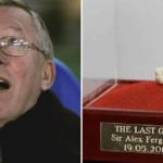Bã kẹo cao su của Alex Ferguson được bán với giá 517.000 đôla
