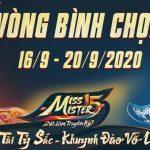 Cộng đồng nhiệt tình cày cuốc vote vòng Bán Kết Miss & Mister Võ Lâm Truyền Kỳ 15