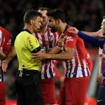 Costa chửi mẹ trọng tài, treo giò hết mùa La Liga