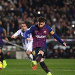 Barca giành ba điểm nhờ quả phạt đền của Messi