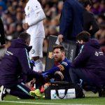 Messi chấn thương ngay trước trận đấu Real