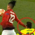 HLV Barca: 'Messi như bị đoàn tàu húc khi va chạm với Smalling'