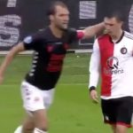 Cầu thủ Feyenoord ăn vạ thô thiển ở giải Hà Lan