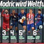 Độc giả Đức bầu chọn Modric là Cầu thủ hay nhất năm của FIFA