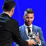 Ramos bất ngờ vì Ronaldo không tham dự lễ trao giải của UEFA