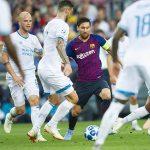 Messi lập hat-trick trong trận ra quân của Barca ở Champions League
