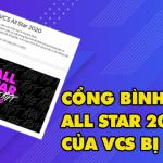 """VCS mở cổng bình chọn All Star 2020, cộng đồng fan đồng loạt chê """"phèn"""""""