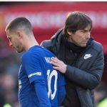 Courtois chỉ trích Conte vì sớm thay Hazard ở trận thua Man Utd