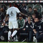 Pogba không bắt tay Mourinho khi bị thay ra