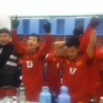 U23 Việt Nam nhảy múa mừng chiến thắng Iraq