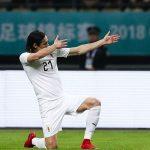 Cavani lập công, Uruguay vô địch China Cup 2018