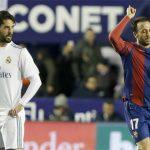 Real mất điểm ở phút 89 vì bàn gỡ của Levante