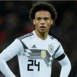 Sane bị loại khỏi tuyển Đức dự World Cup 2018