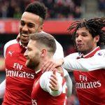 Aubameyang và Mkhitaryan lập công, Arsenal đại thắng ở Ngoại hạng Anh