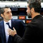 HLV Barca chúc mừng chiến thắng của Espanyol