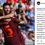 Messi đăng ảnh chụp cùng Paulinho lên mạng xã hội