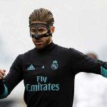 Ramos đeo mặt nạ trên sân tập Real Madrid