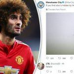 Tài khoản Twitter của Man City ám chỉ Fellaini không phải cầu thủ