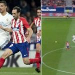 Ronaldo gây tranh cãi vì chạy chậm hơn hậu vệ Atletico