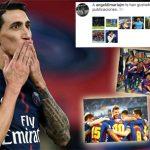 Di Maria thích ảnh Barca mừng trận thắng Real
