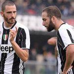 Higuain, Bonucci chia nhau ngôi 'ông hoàng lương bổng' ở Serie A