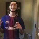 Con trai Mourinho mừng chiến thắng của Barca