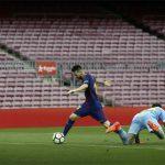 Messi lập cú đúp, Barca thắng trên sân không khán giả ở La Liga
