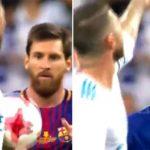 Messi chửi Ramos khi bị ném mất bóng