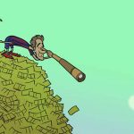 Neymar ngồi trên núi tiền, dùng ống ngắm nhìn xuống Pogba
