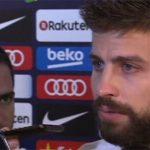 Pique suýt khóc khi tuyên bố sẵn sàng chia tay tuyển Tây Ban Nha