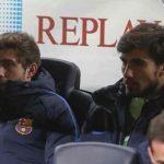 Barca mất hai cầu thủ vì trận hòa Olympiakos