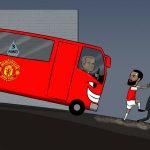 Wenger và Arsenal hoảng hồn trước xe buýt của Mourinho