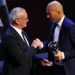 Tiếp bước Ranieri, Zidane trở thành HLV hay nhất FIFA