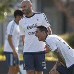 Di Maria vui vẻ khi tái ngộ Messi và Mascherano