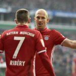 'Đôi cánh Robbery' trở lại, Bayern ngự trị đỉnh Bundesliga