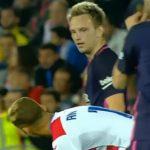 Sao Barca bị nghi buông lời tục tĩu với 'lúa non' của Man Utd