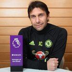 Conte lập kỷ lục ba tháng liền là HLV hay nhất Ngoại hạng Anh