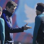 Neymar suýt đánh nhau với ứng viên kế nhiệm Enrique trên sân tập
