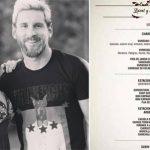 Thực đơn phục vụ đám cưới Messi