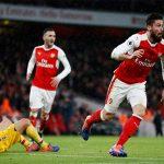Giroud ghi bàn kiểu bọ cạp trong chiến thắng của Arsenal