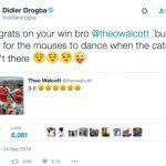 Drogba châm chọc Arsenal: 'Đàn chuột chỉ nhảy múa khi mèo vắng nhà'